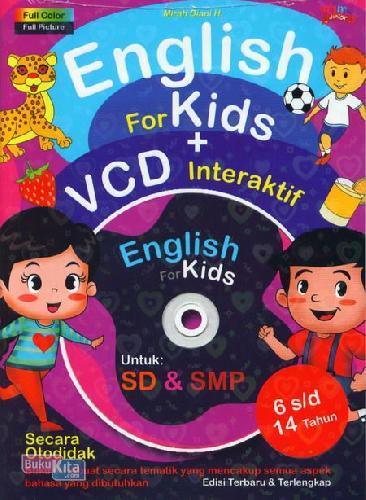 Cover Buku English For Kids + Cd