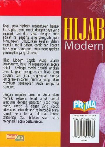 Cover Belakang Buku Hijab Modern Cantik,Elegan&Modis