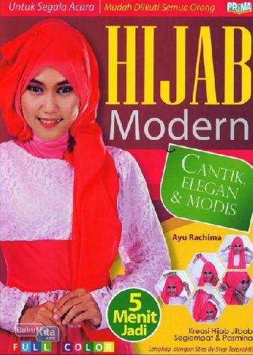 Cover Buku Hijab Modern Cantik,Elegan&Modis