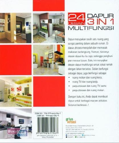 Cover Belakang Buku 24 Desain Dapur 3 In 1 Multifungsi