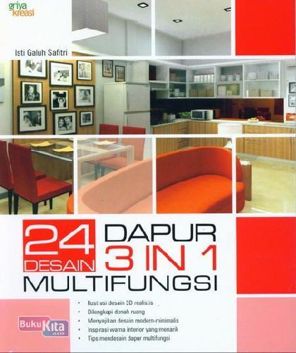 Cover Buku 24 Desain Dapur 3 In 1 Multifungsi