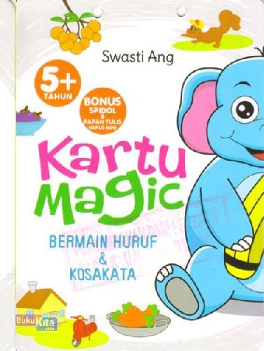 Cover Buku Kartu Magic Bermain Huruf & Kosakata