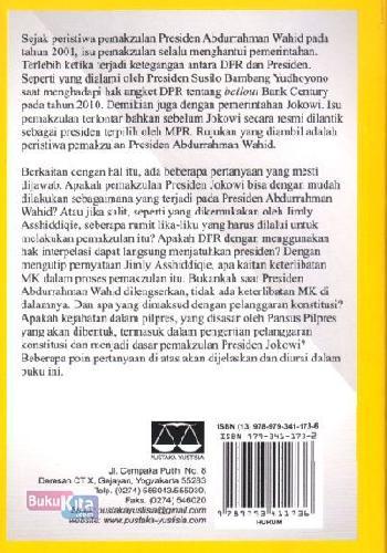 Cover Belakang Buku Skenario Pemakzulan Presiden Jokowi