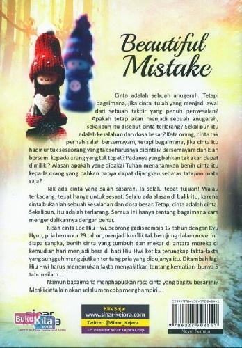 Cover Belakang Buku Beautiful Mistake : Karena Cinta Tak Pernah Salah