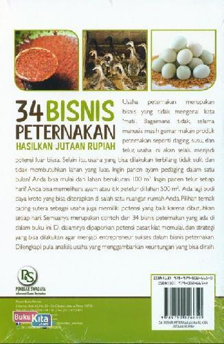 Cover Belakang Buku 34 Bisnis Peternakan Hasilkan Jutaan Rupiah
