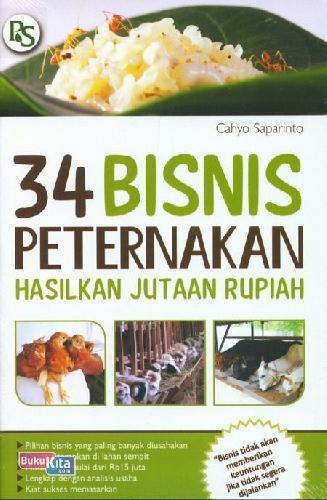 Cover Buku 34 Bisnis Peternakan Hasilkan Jutaan Rupiah