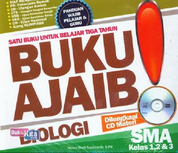 Cover Buku SMA Kl 1-3 Buku Ajaib Biologi+Cd Materi