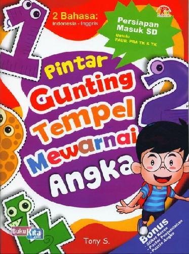 Cover Belakang Buku Pintar Gunting Tempel Mewarnai Angka