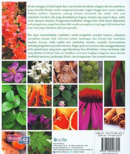 Cover Belakang Buku Kitab Tumbuhan Obat : 269 Tumbuhan Berkhasiat