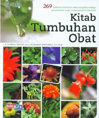 Cover Buku Kitab Tumbuhan Obat : 269 Tumbuhan Berkhasiat