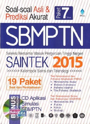 Cover Buku Soal-Soal Asli & Prediksi Akurat SBMPTN SAINTEK 2015
