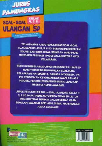 Cover Belakang Buku Jurus Pamungkas Soal-Soal Sd Kls 4,5,6