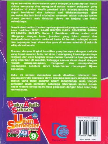 Cover Belakang Buku Smp/Mts Kl 9 Buku Ajaib Sukses Ujian Semester Semua Pelajaran