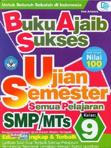 Cover Buku Smp/Mts Kl 9 Buku Ajaib Sukses Ujian Semester Semua Pelajaran