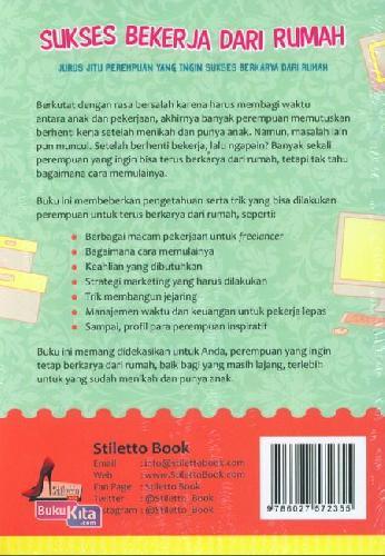 Cover Belakang Buku Sukses Bekerja Dari Rumah