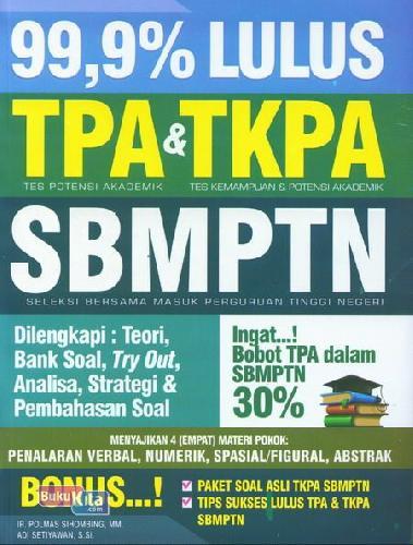 Cover Buku 99,9% Lulus Tpa&Tkpa Sbmptn