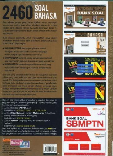 Cover Belakang Buku Trik Cerdas Bank Soal Bhs Indonesia & inggris SMA 10-11-12