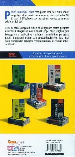 Cover Belakang Buku SMA 10-12 Pocket Pentalogy Series Ringkasan Materi Kimia