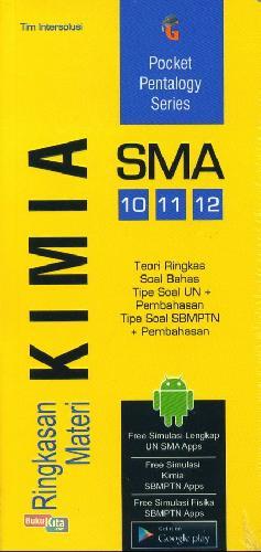 Cover Buku SMA 10-12 Pocket Pentalogy Series Ringkasan Materi Kimia