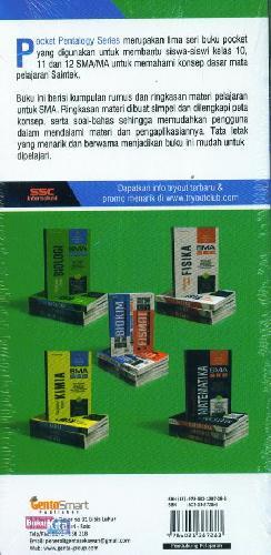 Cover Belakang Buku SMA 10-12 Pocket Pentalogy Series Ringkasan Materi Biologi