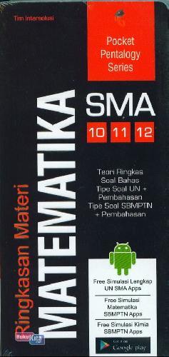 Cover Buku SMA 10-12 Pocket Pentalogy Series Ringkasan Materi Matematika