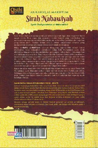 Cover Belakang Buku Sirah Nabawiyah : AR-RAHIQ AL-MAKHTUM
