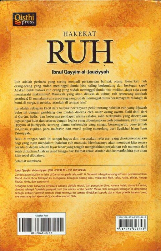 Cover Belakang Buku Hakekat Ruh (Hard Cover)