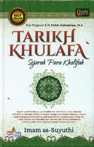 Cover Belakang Buku Tarikh Khulafa : Sejarah Para Khalifah
