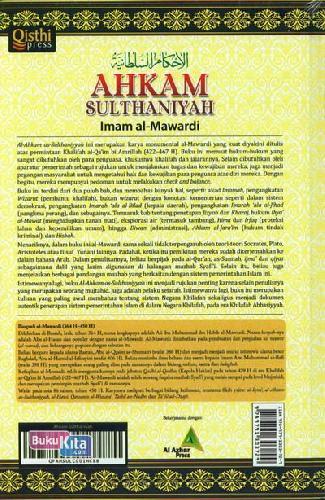 Cover Belakang Buku AHKAM SULTHANIYAH : Sistem Pemerintahan Khilafah Islam