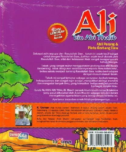 Cover Belakang Buku Teladan Anak Muslim : Ali bin Abi Thalib - Ahli Perang & Pintu Gerbang Ilmu
