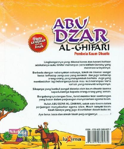Cover Belakang Buku Teladan Anak Muslim : Abu Dzar Al-Ghifari - Pembela Kaum Dhuafa