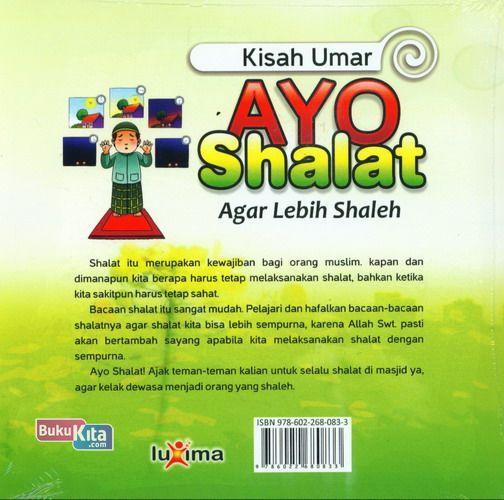 Cover Belakang Buku Kisah Umar : Ayo Shalat Agar Lebih Shaleh