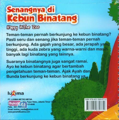 Cover Belakang Buku Seri Cerita Anak Usia Dini : Senangnya di Kebun Binatang - Happy in The Zoo