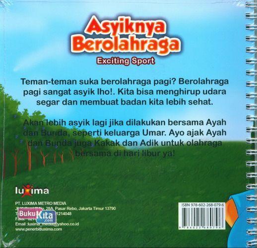 Cover Belakang Buku Seri Cerita Anak Usia Dini : Asyiknya Berolahraga - Exciting Sport