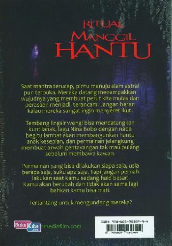 Cover Belakang Buku Ritual Manggil Hantu