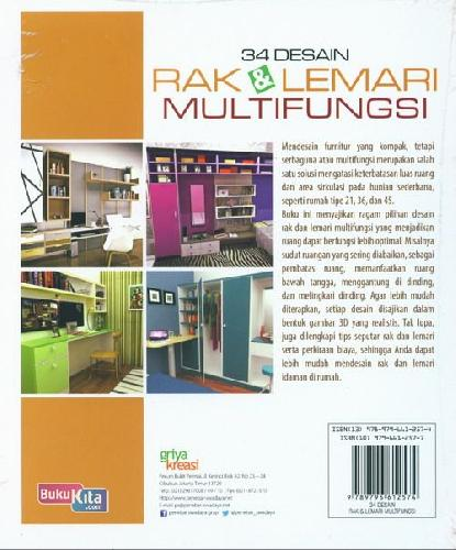 Cover Belakang Buku 34 Desain Rak & Lemari Multifungsi