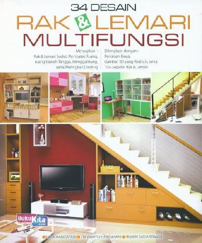 Cover Buku 34 Desain Rak & Lemari Multifungsi