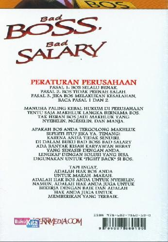 Cover Belakang Buku Bad Boss Bad Salary