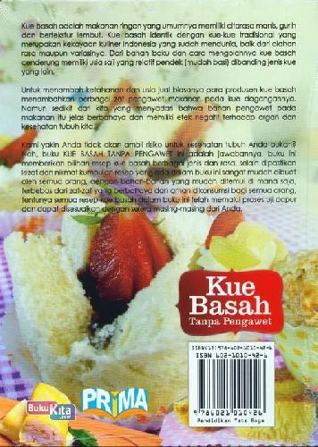 Cover Belakang Buku Kue Basah Tanpa Pengawet (Full Color)