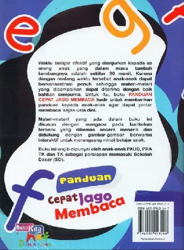 Cover Belakang Buku Panduan Cepat Jago Membaca (Full Color)