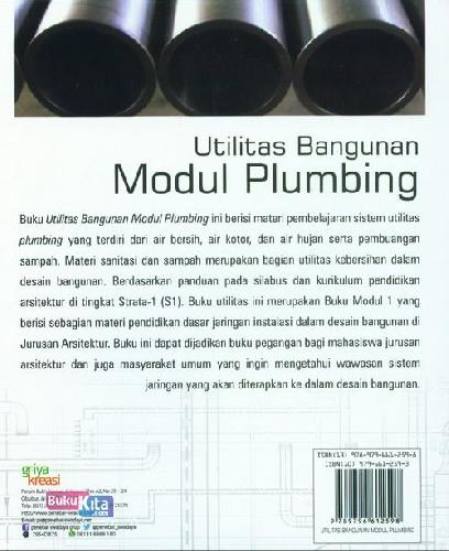 Cover Belakang Buku Utilitas Bangunan Modul Plumbing