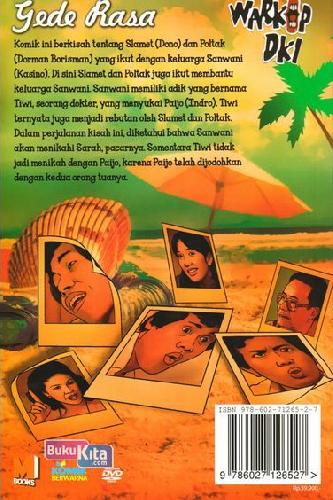 Cover Belakang Buku Komik Warkop DKI : Gede Rasa