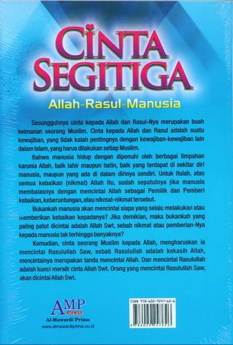 Cover Belakang Buku Cinta Segitiga Allah Rasul Manusia