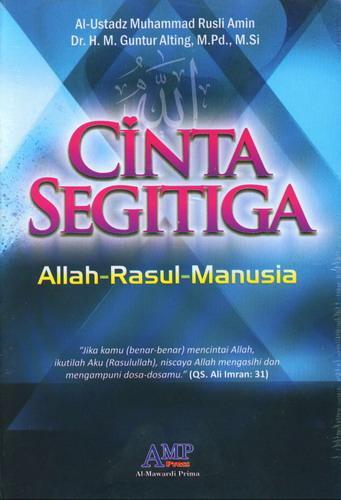 Cover Buku Cinta Segitiga Allah Rasul Manusia