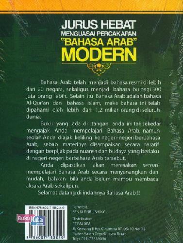 Cover Belakang Buku Jurus Hebat Menguasai Percakapan BAHASA ARAB MODERN