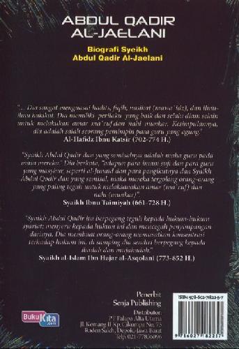 Cover Belakang Buku Abdul Qadir Al-Jaelani