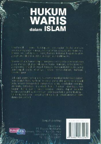 Cover Belakang Buku Hukum Waris Dalam Islam: Dilengkapi Contoh Kasus