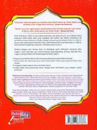 Cover Belakang Buku Muttafaqun Alaih Shahih Bukhari Muslim : Himpunan Hadits Shahih