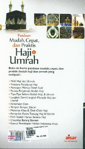 Cover Belakang Buku Panduan Mudah Cepat dan Praktis Haji & Umrah