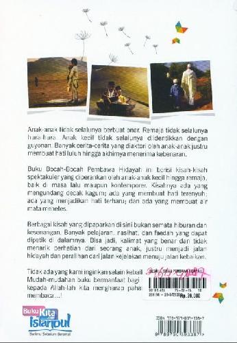 Cover Belakang Buku Bocah-Bocah Pembawa Hidayah